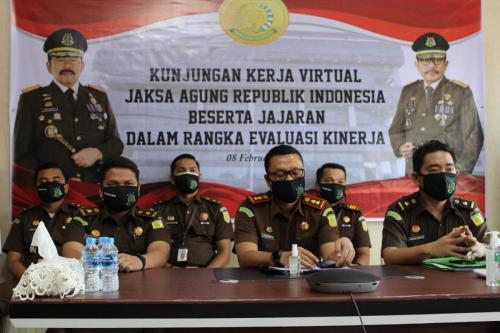 Kunjungan Kerja Virtual Kejagung dalam rangka evaluasi kinerja