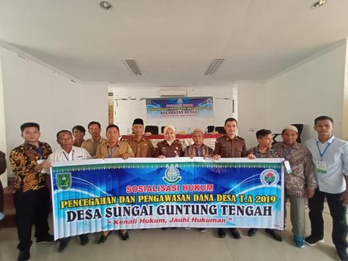 Penyuluhan Hukum di Desa Sungai Guntung